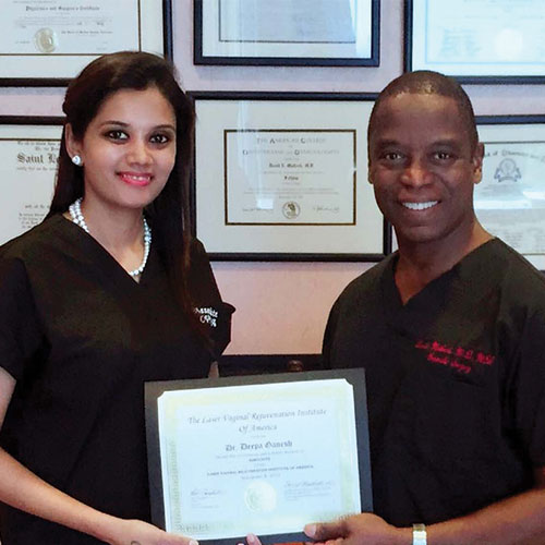 Dr. Deepa Ganesh with Dr. David Matlock, god of cosmetic gynecology
