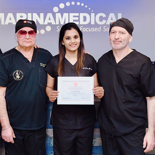Dr. Deepa Ganesh with Dr. Marco A Pelosi II, Bayonne, New Jersey